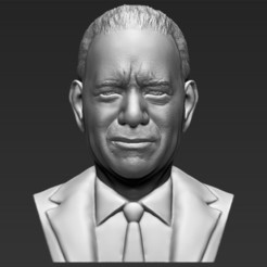 STL files Tom Hanks bust 3D printing ready stl obj, PrintedReality