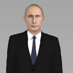 Modelos 3D para imprimir Vladimir Putin listo para la impresión 3D a todo color, PrintedReality