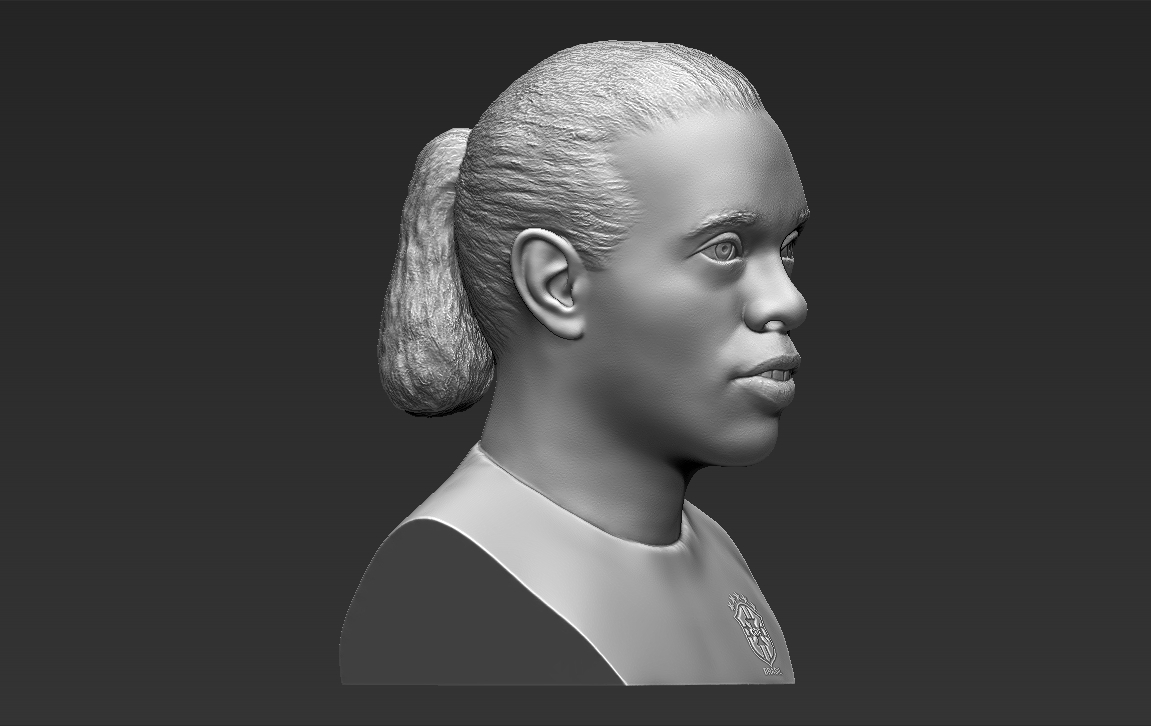 9.jpg Download STL file Ronaldinho bust ready for full color 3D printing • 3D print model, PrintedReality