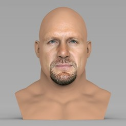 untitled.182.jpg Download STL file Stone Cold Steve Austin bust ready for full color 3D printing • 3D printing template, PrintedReality