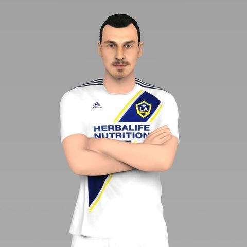 new product 1dfde 8957c Zlatan Ibrahimovic LA Galaxy ready for full color 3D printing
