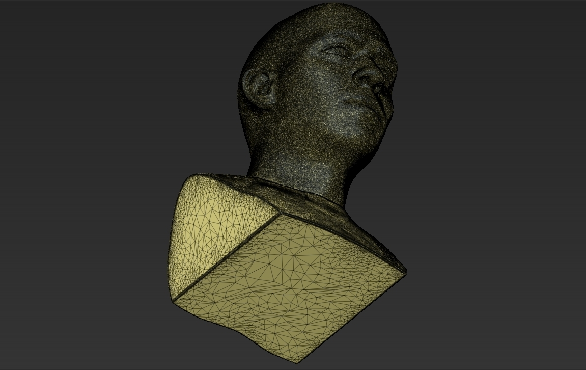 27.jpg Download STL file Ronaldo Nazario Brazil bust 3D printing ready stl obj formats • Template to 3D print, PrintedReality