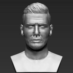 Download 3D printer files David Beckham bust 3D printing ready stl obj, PrintedReality