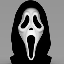 Download STL file Ghostface from Scream bust ready for full color 3D printing, PrintedReality