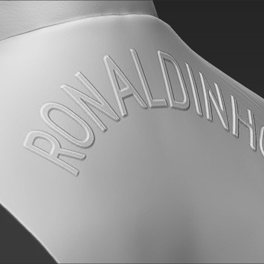 20.jpg Download STL file Ronaldinho bust 3D printing ready stl obj formats • 3D printable template, PrintedReality