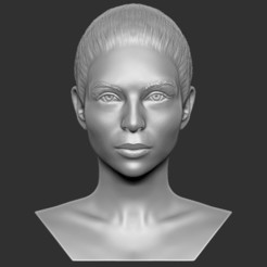 1.jpg Download STL file Beautiful woman bust 3D printing ready TYPE 6 • 3D printable design, PrintedReality