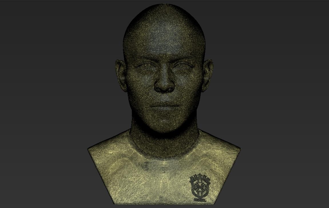 24.jpg Download STL file Ronaldo Nazario Brazil bust 3D printing ready stl obj formats • Template to 3D print, PrintedReality