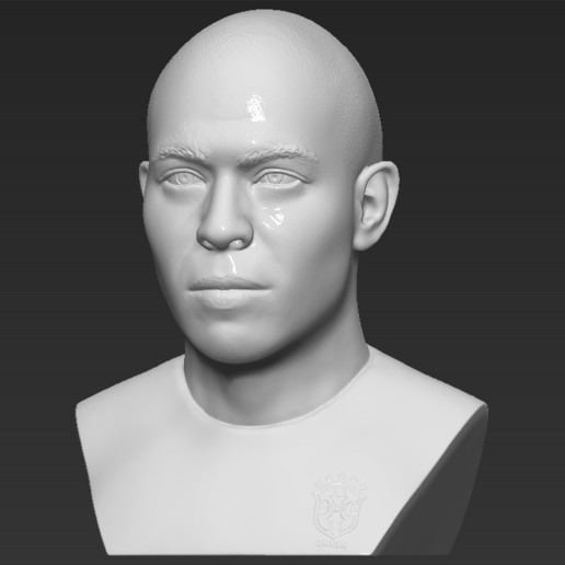 2.jpg Download STL file Ronaldo Nazario Brazil bust 3D printing ready stl obj formats • Template to 3D print, PrintedReality