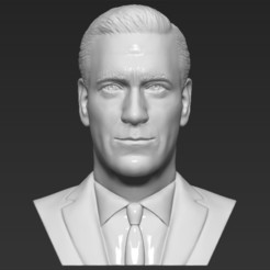 1.jpg Télécharger fichier STL Les fous de Don Draper font un buste en 3D prêt à imprimer stl obj • Plan pour imprimante 3D, PrintedReality