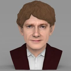 STL file Bilbo Baggins Hobbit bust ready for full color 3D printing, PrintedReality