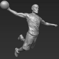 Download 3D printer designs Lebron James 3D printing ready stl obj, PrintedReality