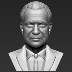 Download 3D model Richard Nixon bust 3D printing ready stl obj formats, PrintedReality