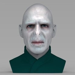 3D printing model Lord Voldemort bust ready for full color 3D printing, PrintedReality