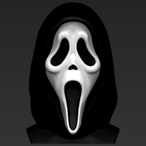 Download Stl File Ghostface From Scream Bust Ready For