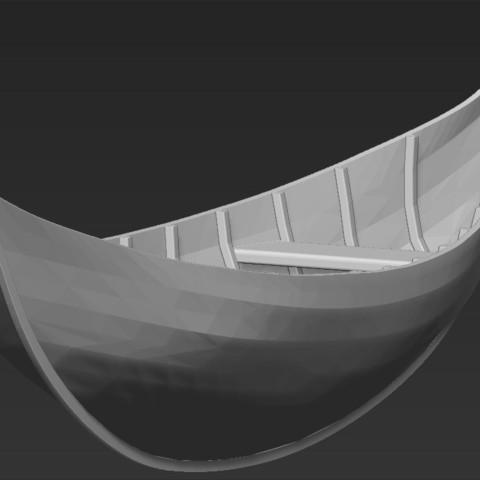 Télécharger modèle 3D Bateau Elfique de Lothlorien Le Seigneur des Anneaux stl obj, PrintedReality