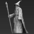 Télécharger STL Gandalf le Seigneur des Anneaux Hobbit impression 3D en couleur, PrintedReality