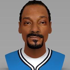 STL Buste Snoop Dogg prêt pour l'impression 3D couleur, PrintedReality
