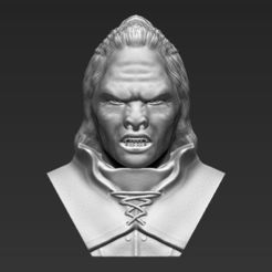 3D print files Lurtz Lord of the Rings bust 3D printing ready stl obj, PrintedReality