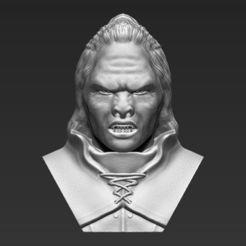 Diseños 3D Lurtz Señor de los Anillos busto 3D listo para imprimir stl obj, PrintedReality