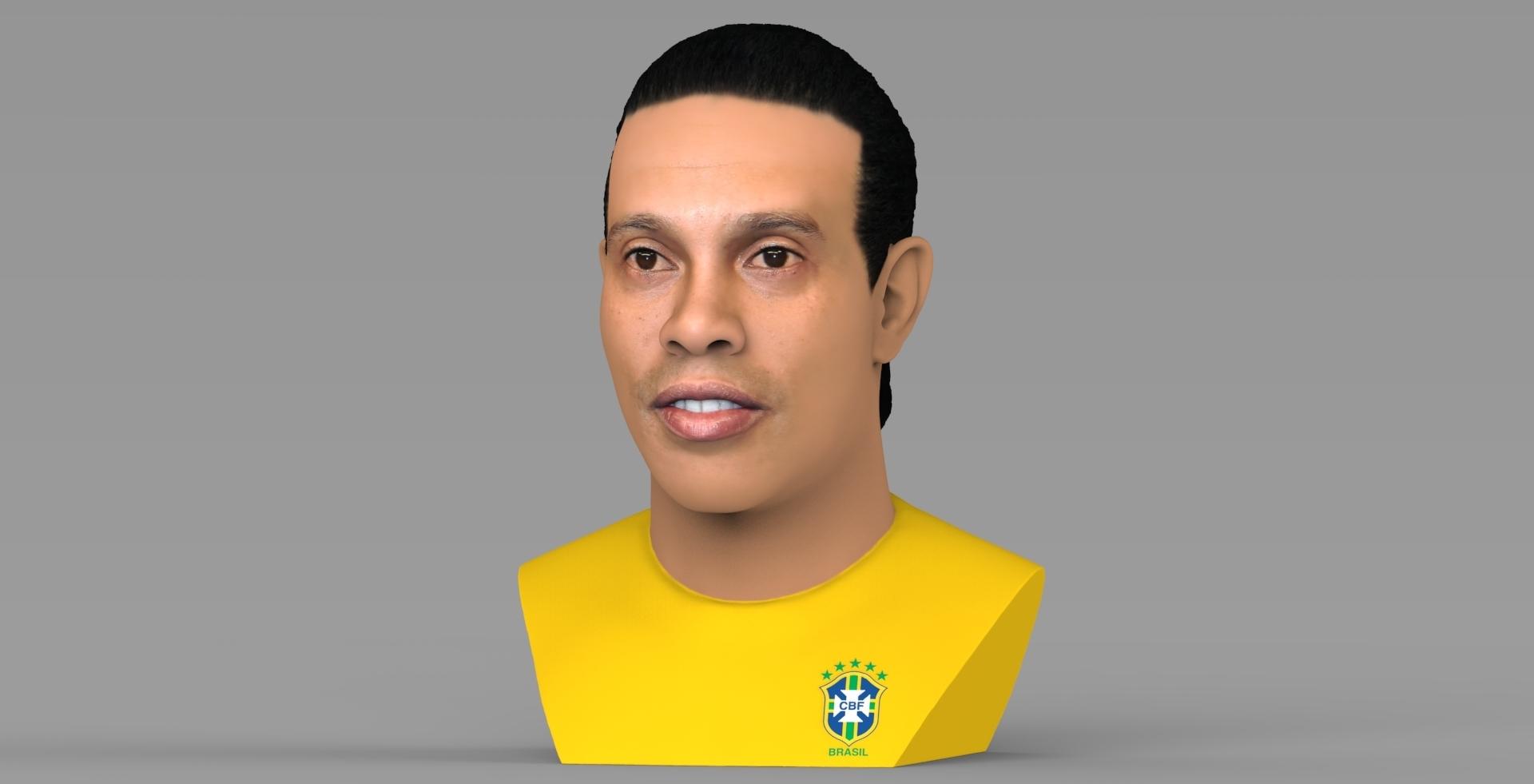 untitled.1680.jpg Download STL file Ronaldinho bust ready for full color 3D printing • 3D print model, PrintedReality