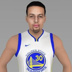 Download 3D printer files Stephen Curry ready for full color 3D printing, PrintedReality