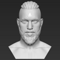 1.jpg Download STL file Ragnar Lothbrook Vikings bust 3D printing ready stl obj • 3D print design, PrintedReality