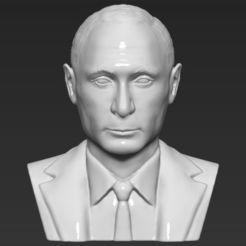 Télécharger fichier 3D Vladimir Poutine buste 3D impression 3D prêt stl obj obj, PrintedReality