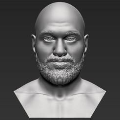 Download 3D printer files Tyson Fury bust 3D printing ready stl obj formats, PrintedReality