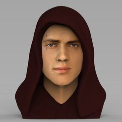 Télécharger plan imprimante 3D Anakin Skywalker Star Wars buste Skywalker buste prêt pour l'impression couleur 3D, PrintedReality
