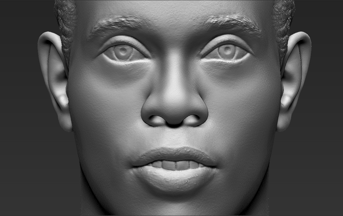 16.jpg Download STL file Ronaldinho bust ready for full color 3D printing • 3D print model, PrintedReality