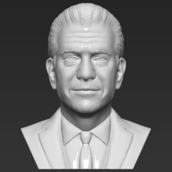 Download 3D printer designs Mel Gibson bust 3D printing ready stl obj formats, PrintedReality