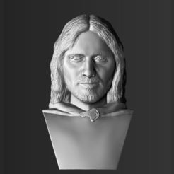 3D printer models Aragorn bust Lord of the Rings 3D printing ready stl obj, PrintedReality
