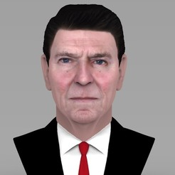 Download 3D model Ronald Reagan bust ready for full color 3D printing, PrintedReality