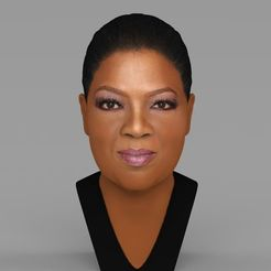 Download 3D print files Oprah Winfrey bust ready for full color 3D printing, PrintedReality