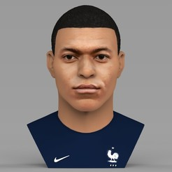 untitled.2038.jpg Download STL file Kylian Mbappe bust ready for full color 3D printing • 3D printing design, PrintedReality