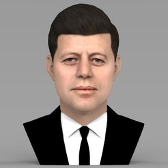untitled.1482.jpg Download STL file John F Kennedy bust ready for full color 3D printing • 3D printable template, PrintedReality