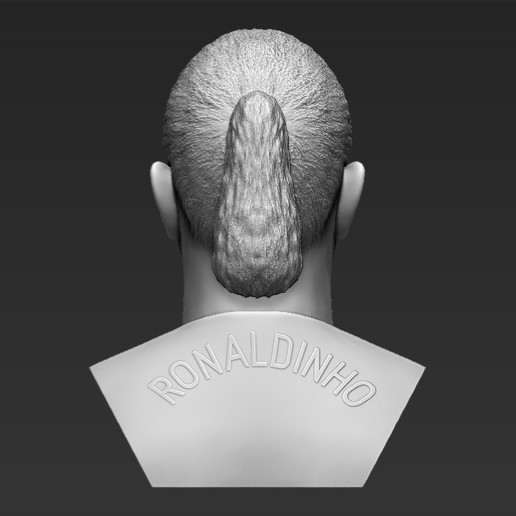 6.jpg Download STL file Ronaldinho bust 3D printing ready stl obj formats • 3D printable template, PrintedReality