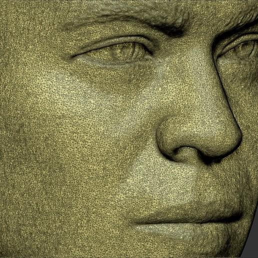 26.jpg Download STL file Ronaldo Nazario Brazil bust 3D printing ready stl obj formats • Template to 3D print, PrintedReality