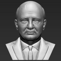1.jpg Download STL file Mikhail Gorbachev bust 3D printing ready stl obj formats • 3D printable model, PrintedReality