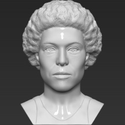 Download 3D printing files Ellen Ripley bust 3D printing ready stl obj formats, PrintedReality