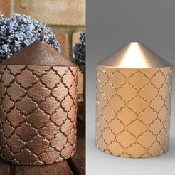 Untitled-1.jpg Download OBJ file Decorative Candle for 3D printing and mold making • Model to 3D print, PrintedReality
