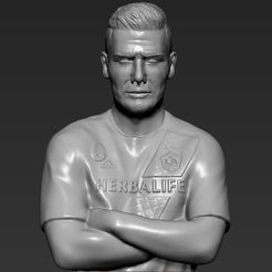 STL files David Beckham 3D printing ready stl obj, PrintedReality