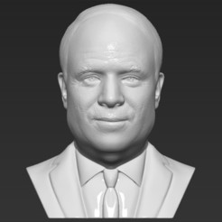 1.jpg Download STL file John McCain bust 3D printing ready stl obj formats • 3D printer model, PrintedReality