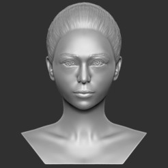 1.jpg Download STL file Beautiful asian woman bust 3D printing ready TYPE 10 • 3D printing design, PrintedReality