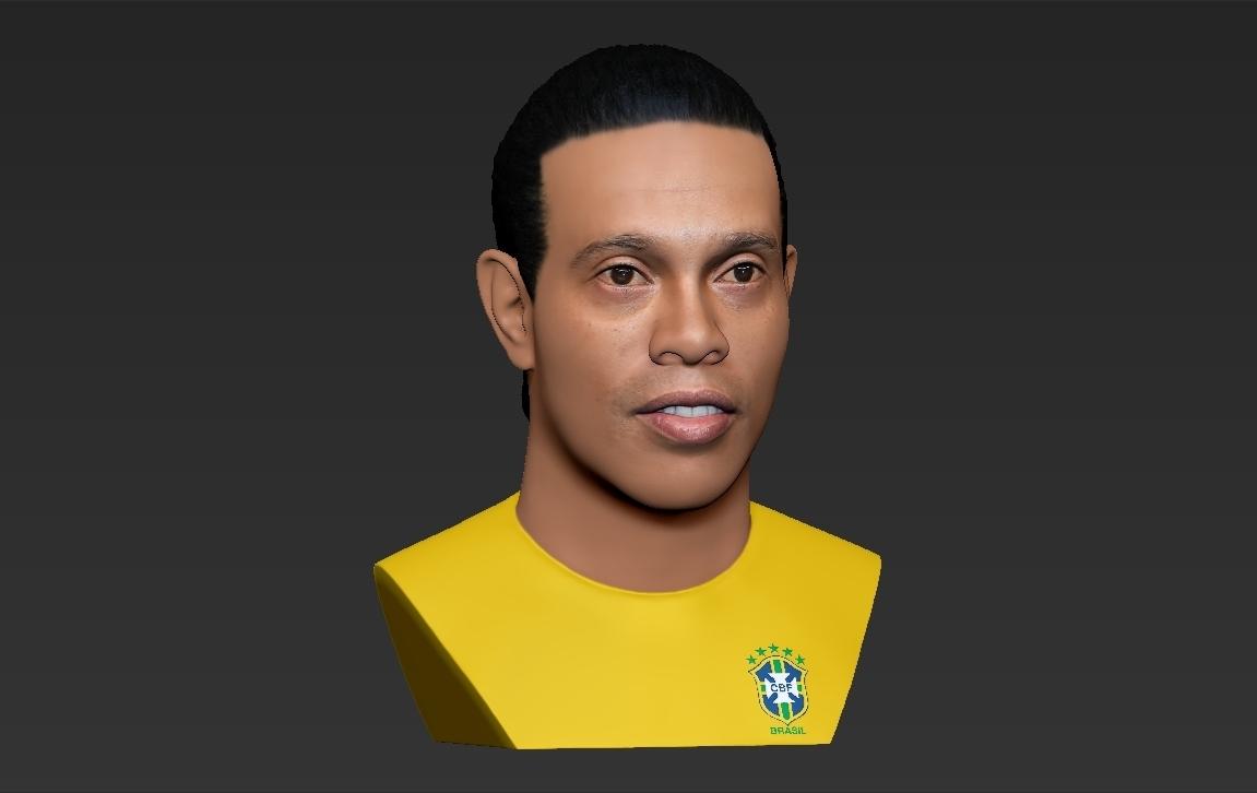 26.jpg Download STL file Ronaldinho bust ready for full color 3D printing • 3D print model, PrintedReality