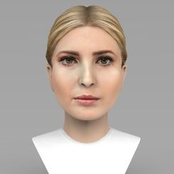 Download 3D printing templates Ivanka Trump bust ready for full color 3D printing, PrintedReality
