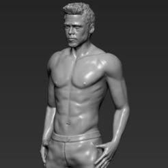 tyler-durden-brad-pitt-fight-club-for-full-color-3d-printing-3d-model-obj-mtl-stl-wrl-wrz (24).jpg Télécharger fichier STL Tyler Durden Brad Pitt de Fight Club prêt pour l'impression 3D • Plan pour imprimante 3D, PrintedReality