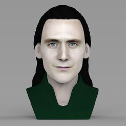 Download 3D printer designs Loki bust ready for full color 3D printing, PrintedReality