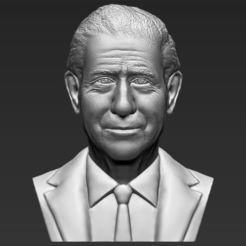 Download 3D printing models Prince Charles bust 3D printing ready stl obj, PrintedReality