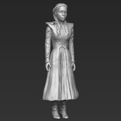 Download 3D printer templates Daenerys Targaryen 3D printing ready stl obj, PrintedReality